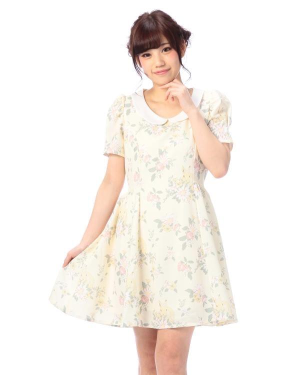 ガーデンラビット襟付きワンピース|ワンピース | Tralala(トゥララ) | Tokyo Kawaii Life