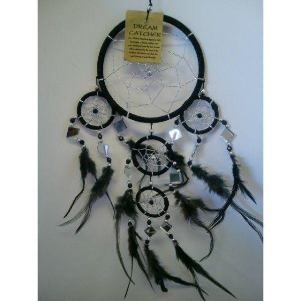 Dromenvanger 11 cm Zwart met spiegeltjes € 9,95