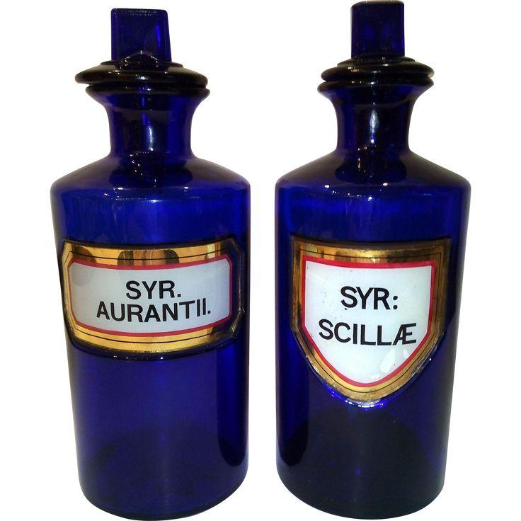 Victorian Blue Pharmacy Bottles