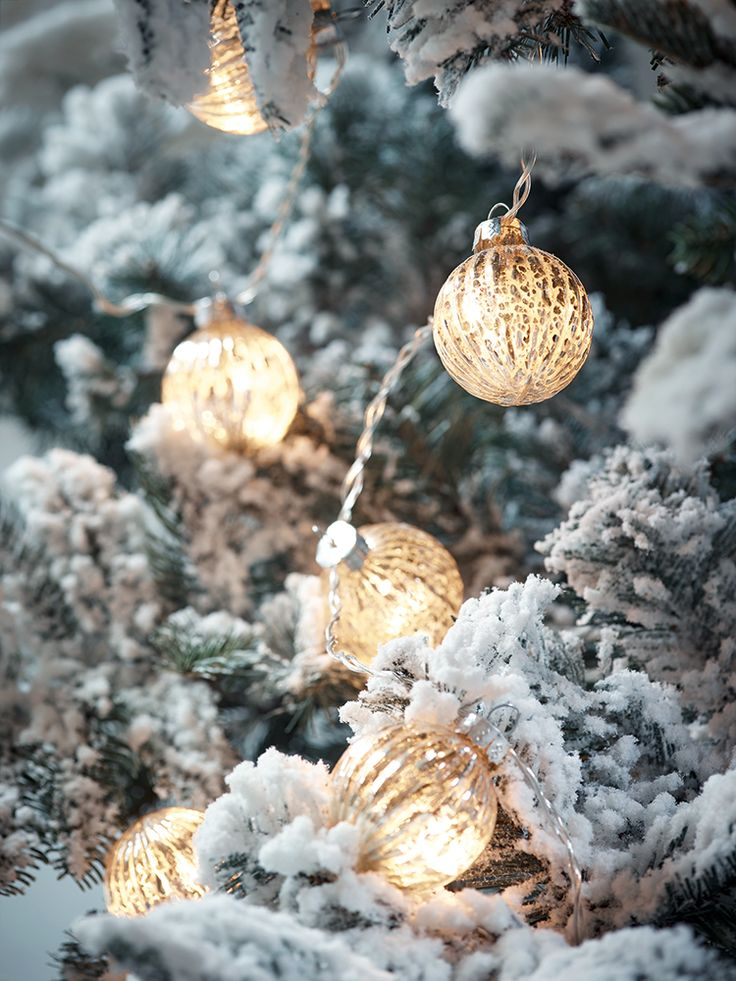 Made from champagne coloured glass with a mercuried finish, our set of ten warm white LEDs are encased in mercuried glass globes. Simply plug in using the transformer provided and watch the light dance through the mercuried glass. Nestle into your Christmas tree for a touch of sparkle or string along your fireplace for added opulence.