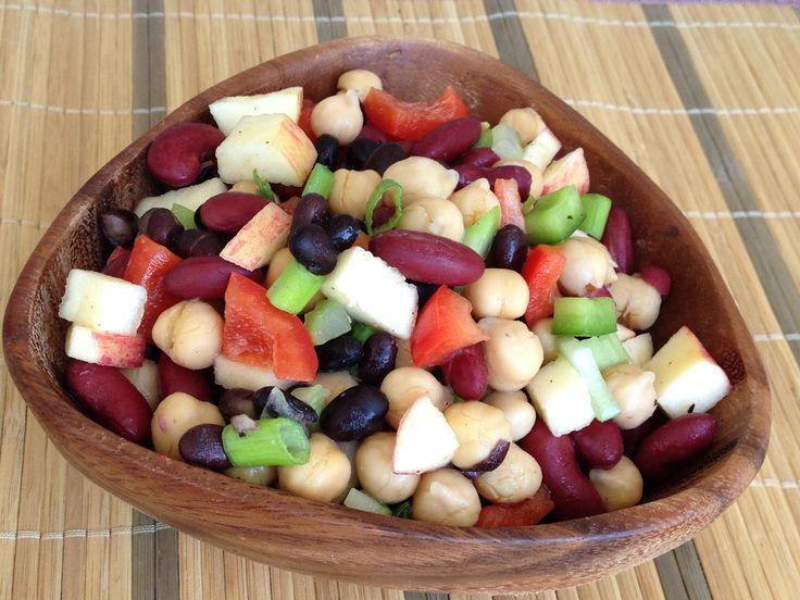 Three-Bean Salad (vegan and gluten-free; oil-free option)