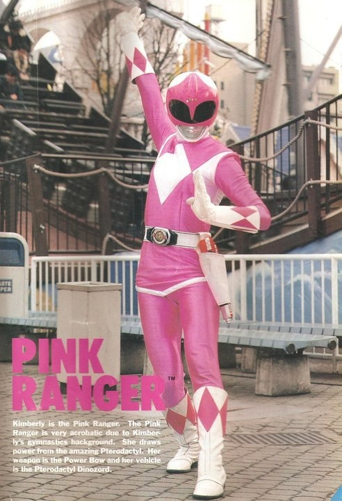 Kimberly/Pink Ranger- Mighty Morphin' Power Rangers..She was my favorite pink ranger