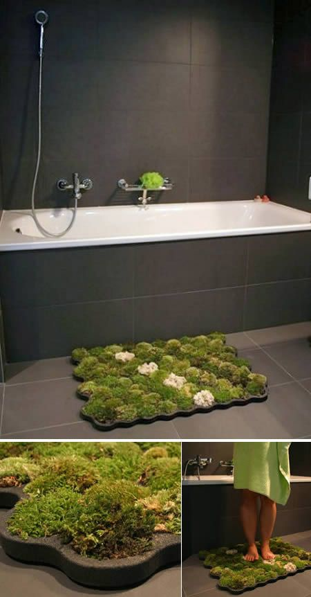 12 Unusual Bath Rugs   Mats. Top 25 ideas about Moss Bath Mats on Pinterest   Moss garden