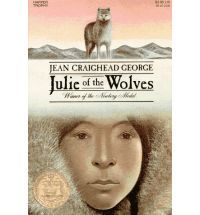 Julie of the Wolves by Jean Craighead George - read in Oct 2012 . . . 3 stars . . . (Fiction, YA) . . This unusual story of a 13-year-old Eskimo girl who survives in the Canadian Artic by 'joining' a wolf pack won the 1973 Newbery Medal. It's set in Alaska in what seems to be the early 1970s. Miyax/Julie (they all had two names, Eskimo and English) leaves an arranged marriage and sets out with some food to walk to her pen pal's house in San Francisco. On the way . . . click through to read…