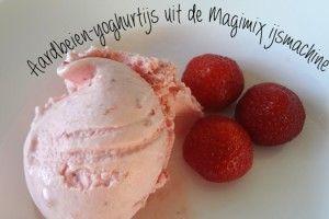 aarbeien-yoghurtijs ijsmachine