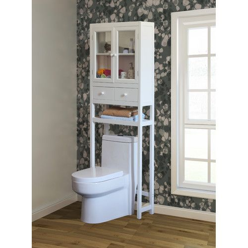 this chic space saving cabinet is designed to fit in small or crowded bathrooms with its sleek over the toilet design finished in brown this contemporary - Bathroom Cabinets That Fit Over The Toilet