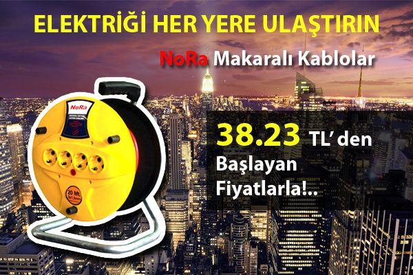 Elektriği Her Yere Ulaştırın...Nora Makaralı Kablo Proalet Farkıyla 38.23 TL 'den başlayan Fiyatlarla!...   http://proalet.com/nora-makarali-kablo