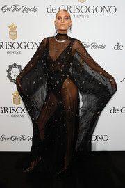 Elsa Hosk Sheer Dress