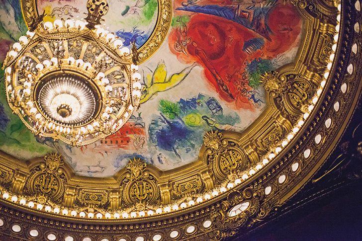 L'opera Garnier... Marc Chagall ceiling... from Eleonore Bridge...