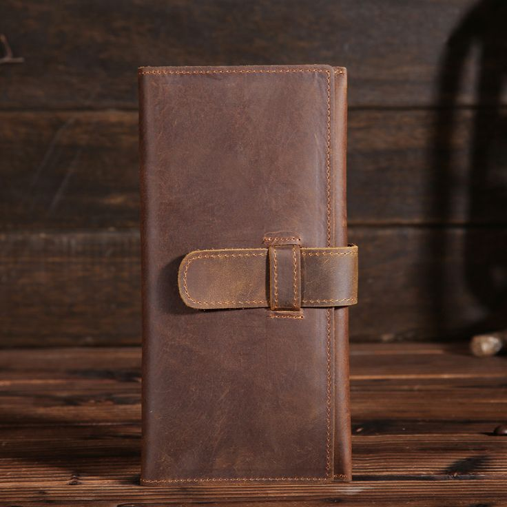 YISHEN Solid Vintage Genuine Leather Male Wallet Large Capacity Card Holder Wallet Fashion Soft Men Long Clutch Wallet B2078