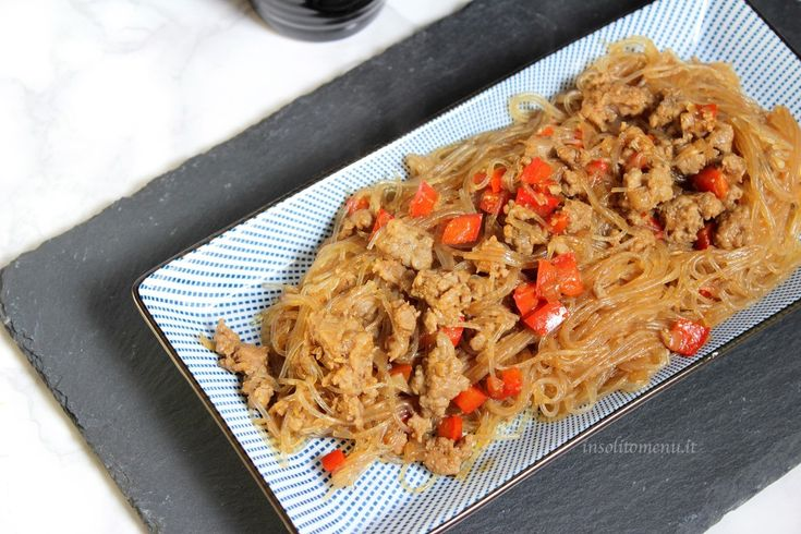 spaghetti di soia piccanti