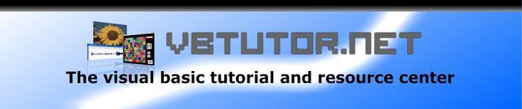 Visual Basic tutorial. Free. | http://www.vbtutor.net/index.php/visual-basic-2013-tutorial/