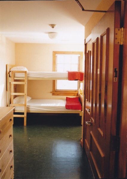 A double room in the Lodge. Staff accommodation.