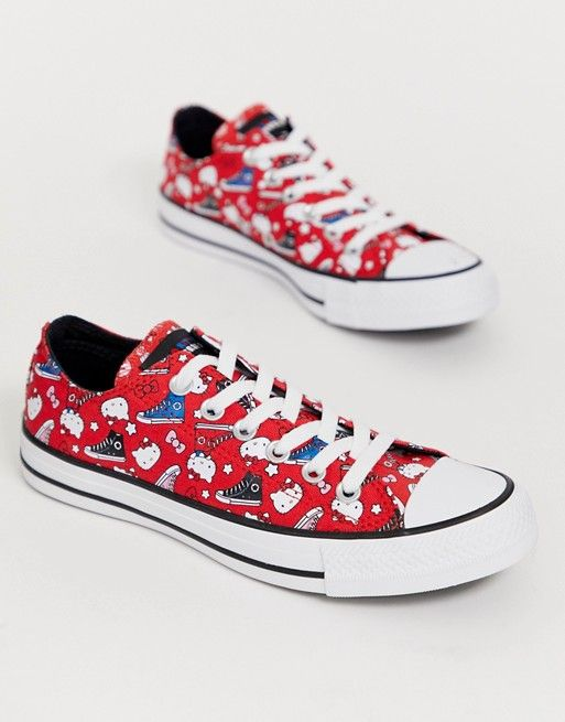 Converse x Hello Kitty Chuck Taylor Ox red all over print