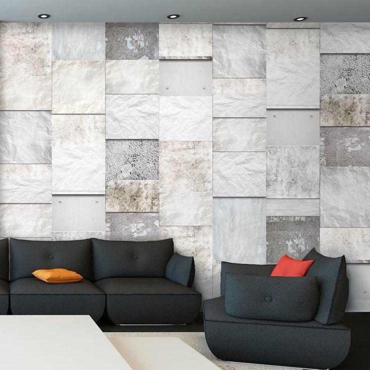 puro tapete realistische steinoptik tapete ohne rapport. Black Bedroom Furniture Sets. Home Design Ideas