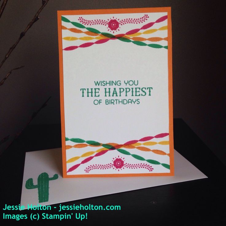 #CrazyCrafters blog hop with #JulieDavison using the #BirthdayFiesta suite by #JessieHolton #StampinUp