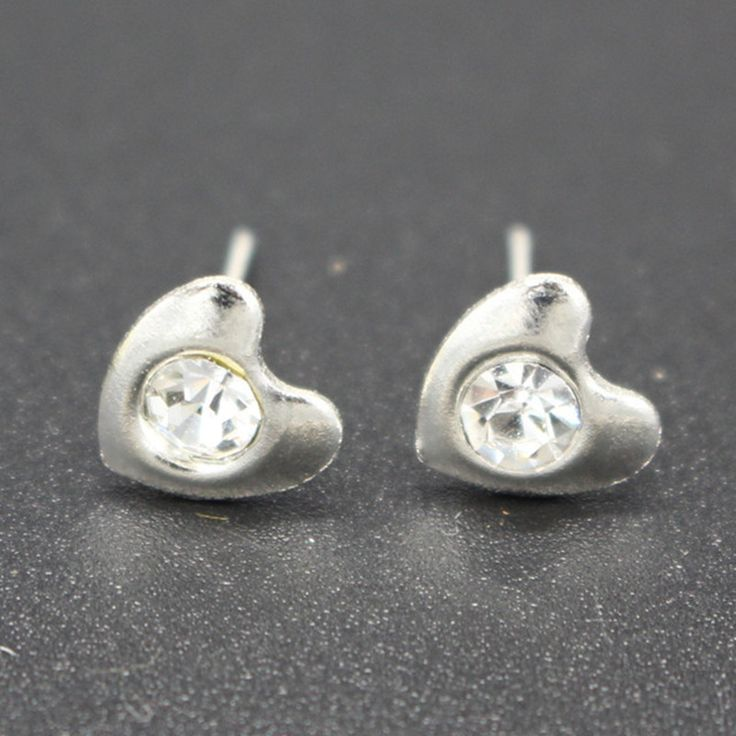 ES903 Jantung Kristal Stud Earrings Untuk Womens Aksesoris Fashion Perhiasan Brinco Earing Grosir Aliexpress