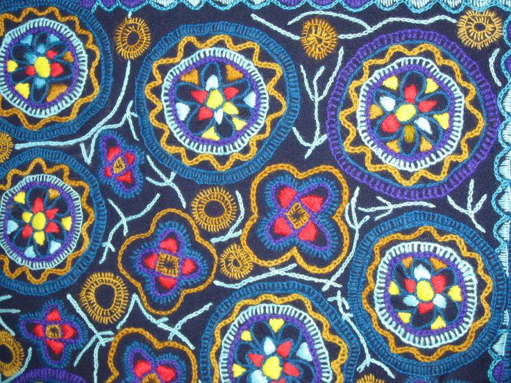 Traditional Latvian textiles #HandicraftLeader . Embroidery on wool from Skrunda .