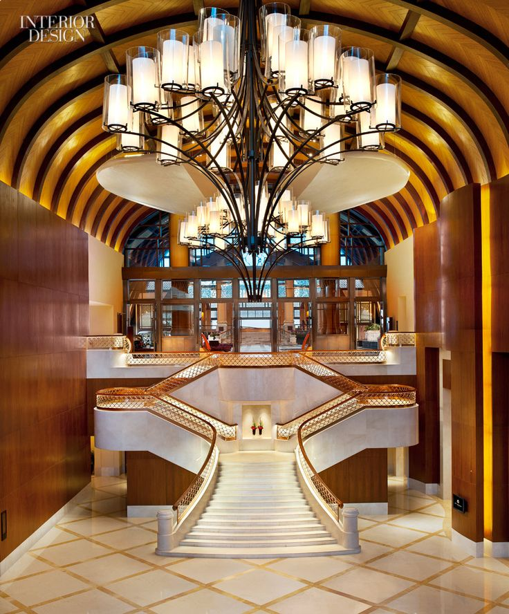 A grand staircase at the st regis sanya yalong bay resort for Grand international decor