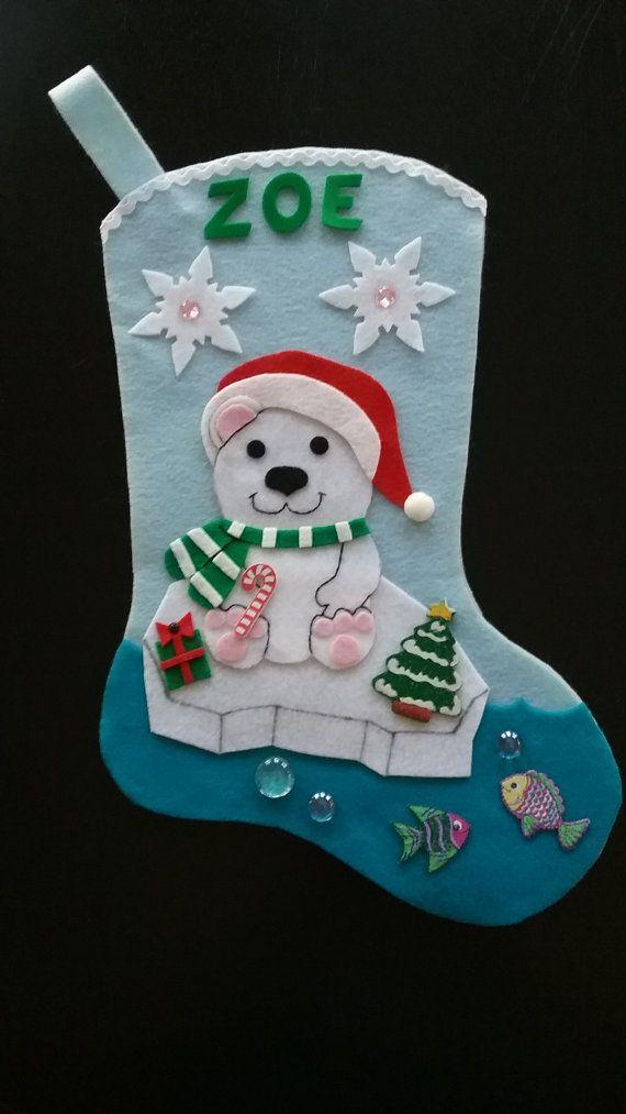 Media de Navidad Oso Polar bebé