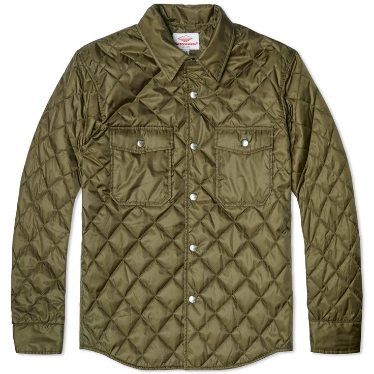 A relaxed piece of shirting designed to be functional and hardwearing, the Battenwear Quilted Guide Shirt is cut from a polyester ripstop shell with Primaloft Gold quilting for incredibly lightweight insulation. Featuring a slightly pointed spread collar and two flap covered pockets, it is finished with branded hardware.  100% Polyester Ripstop Shell with 60 Gram Primaloft Gold Insulation All Over Quilted Design Spread Collar Two Flap Covered Pockets Branded Hardware Curved Hem Made in the…