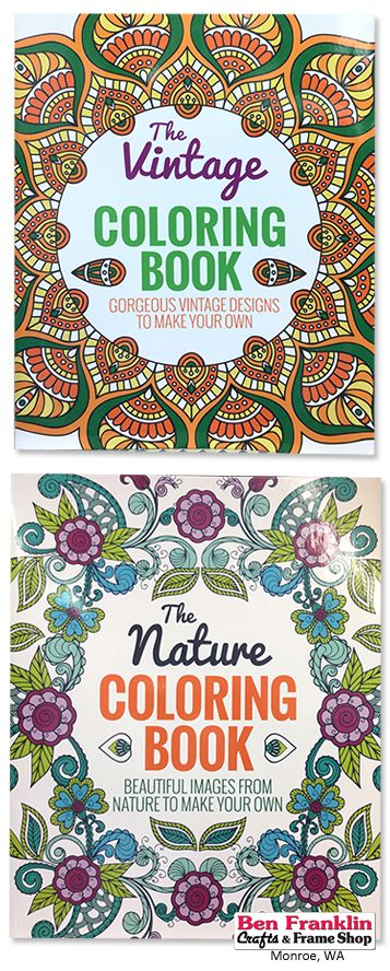 The Vintage Coloring Book And Nature Sold Out Goergeous