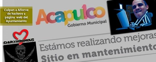 ACAPULCO, Gro. / 6 de febrero.  Especial *  Derivado de los dos hackeos  sufridos el día de hoy a la página oficial del gobierno municipal, personal de la Dirección de Sistemas y Comunicaciones del Ayuntamiento de Acapulco reforzará la seguridad en el servidor.