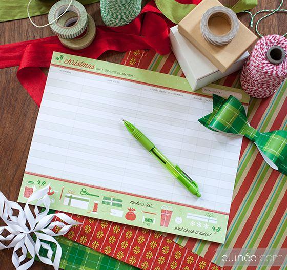Printable Christmas Gift Giving Planner