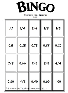 1000+ images about Classroom- Fractions, Decimals, Percentages on ...