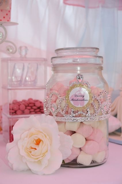 cinderella party Use a crown on the candy jar... love it!