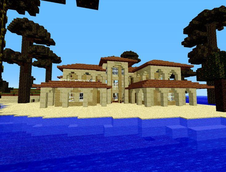 Minecraft Beach House | Minecraft ideas | Pinterest