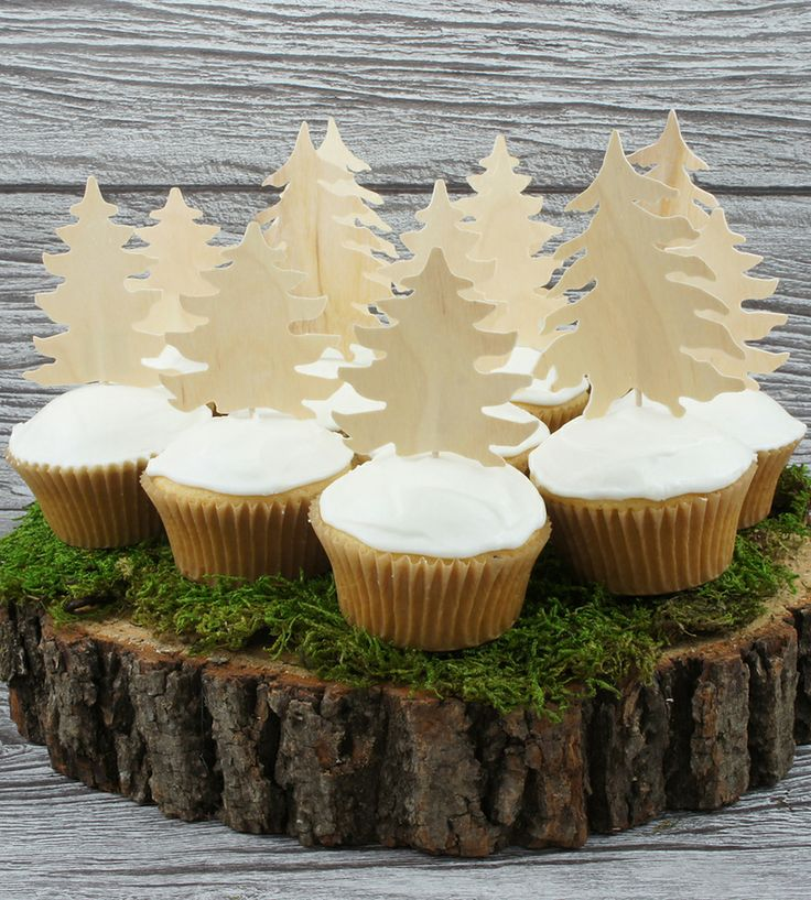 Birch Forest Cupcake Toppers   Home Decor   Wonderful Collective   Scoutmob Shoppe   Product Detail