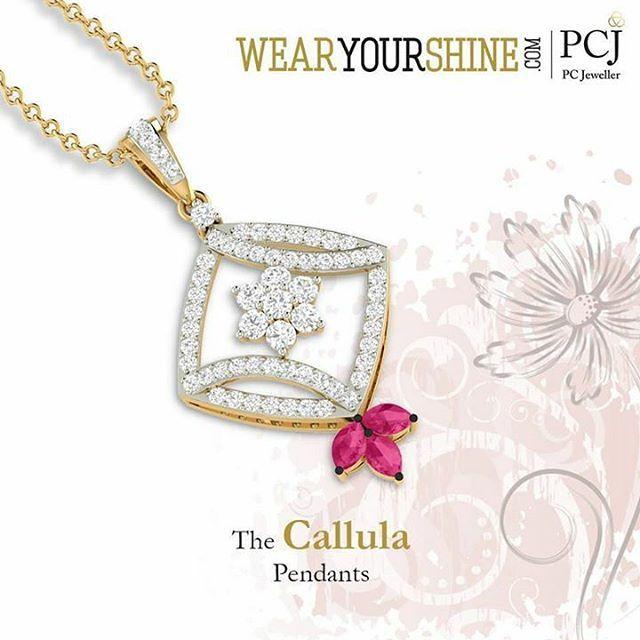 """If you like it then you should buy it. """"The Callula Pendant"""" #WearYourShine #PCJeweller #Love #Happiness #Pendants #Gold #Jewellery #Diamonds #India #Fashion #Trends #WomenFashion #Gemstones"""