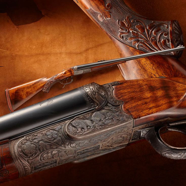 TR's Fred R. Adolph Double Rifle- This Adolph double rifle bears the Presidential seal on both barrels and is attributed to use by President Theodore Roosevelt on western hunting excursions. - http://www.RGrips.com