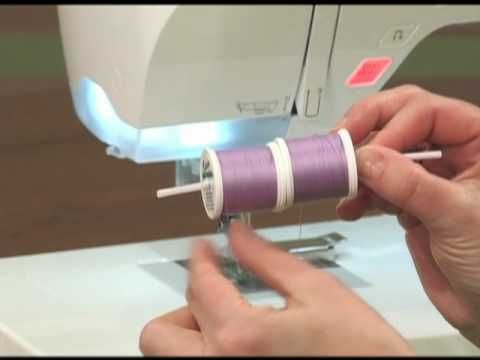▶ Overcome your fear of sewing with a double needle - YouTube -- how to sew with a double needle & two spools of thread on a regular machine