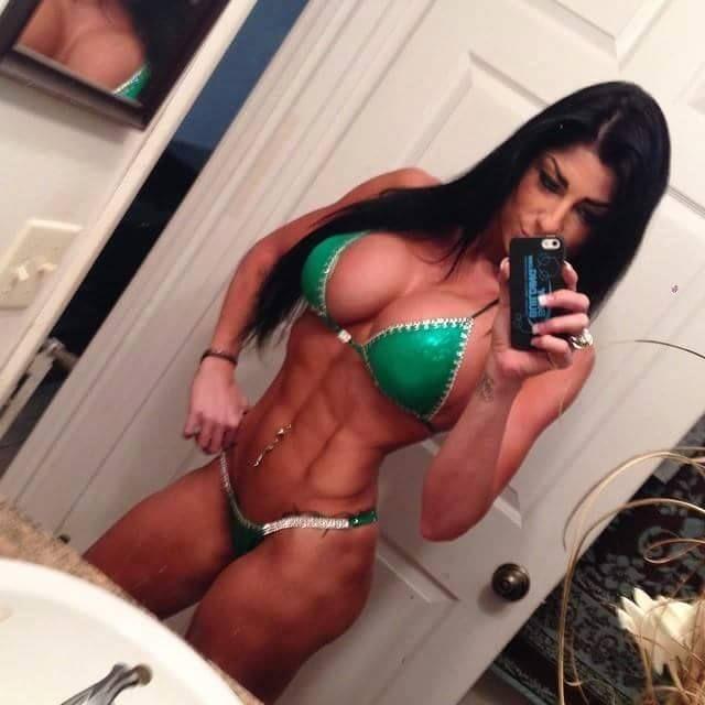 Horny female fitness model