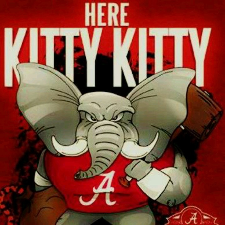 @Katie Dover @Sarah Dover Don't care for Bama ... but like Auburn a lot less .... Iron Bowl week!