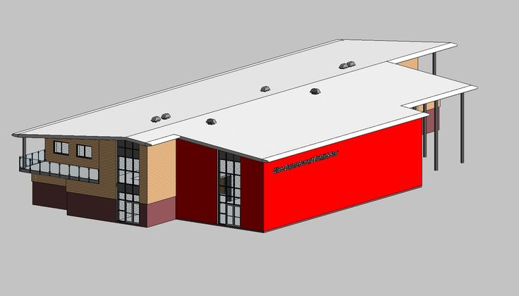 Ystrad Mynach Centre of Sporting Excellence. Revit Model created by James Bennett - Architectural Technician.