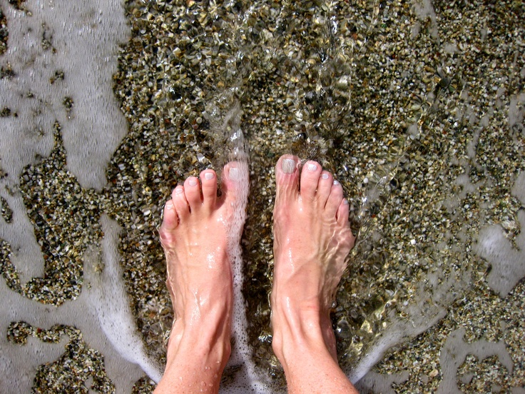 toes in the mediterranean, crete greece - the best
