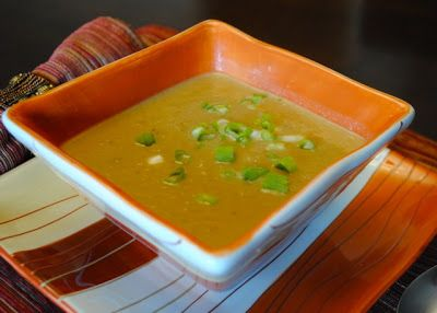 Chestnut and leeks soup