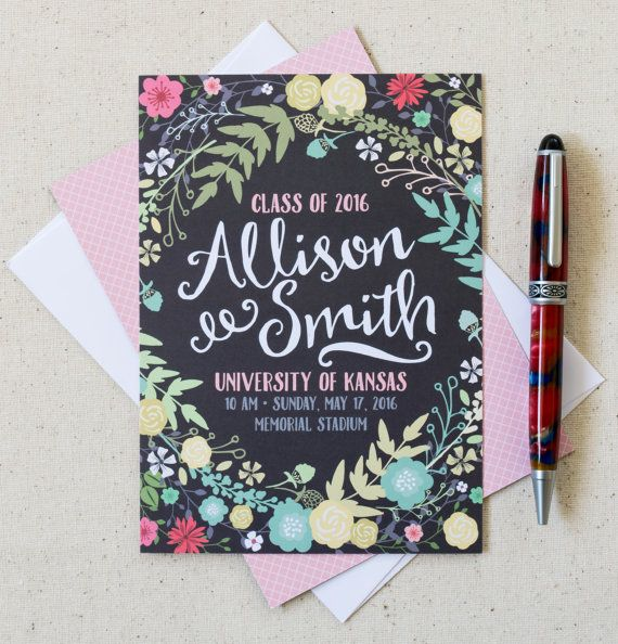 Graduation Announcements High School by PleaseAndThanksCards