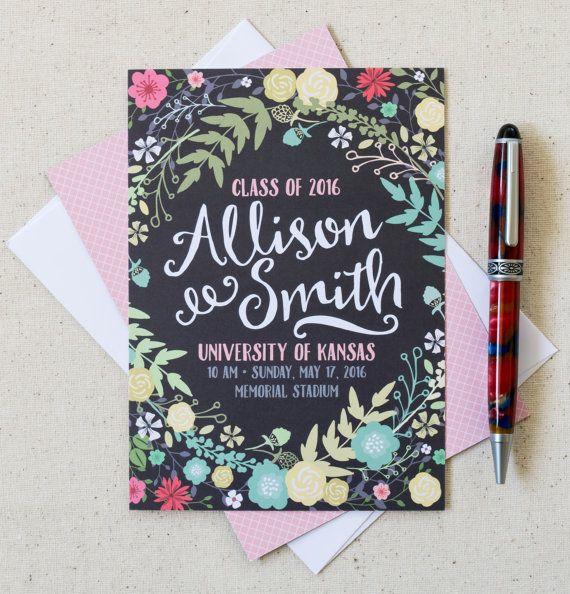 Graduation Announcements High School by PleaseAndThanksCards