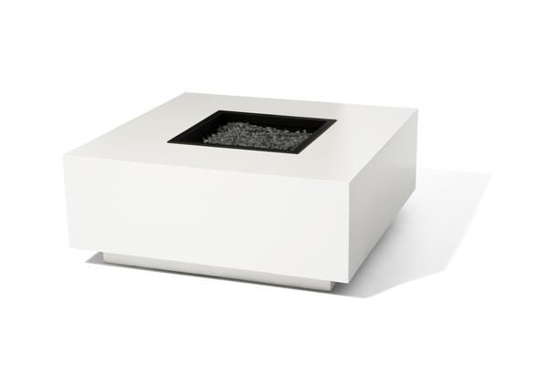 Block Modern Outdoor Fire Pit is made out of powder coated marine grade .090 thick 5052 aluminum and it's available in several colors. This aluminum alloy is light weight, exceptionally strong, and guarantees a long lasting, rust and maintenance free product. This material is the perfect solution for highly corrosive environments, or for placement on porous or easily stained surfaces.  When combined with the powder coated aluminum lid, Block Fire Pit becomes a modern outdoor coffee table....