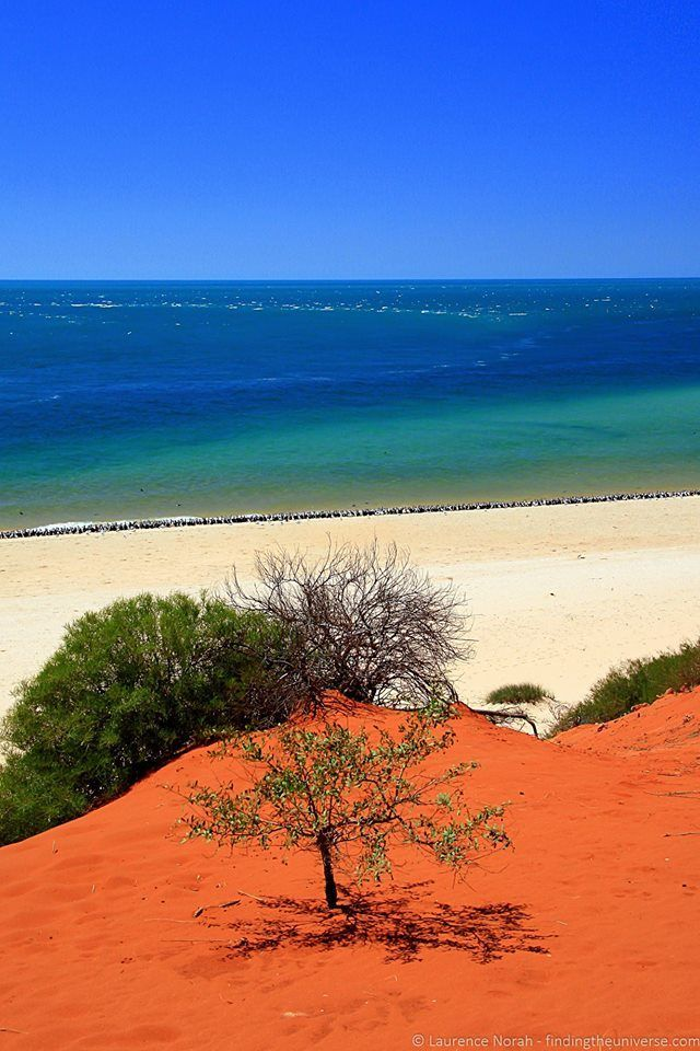 The red sand of the outback meets the sea in the Francois Peron National Park…