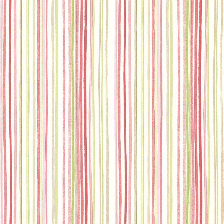 Selbstklebende Tapete Gestreift : Pink Stripes Watercolor