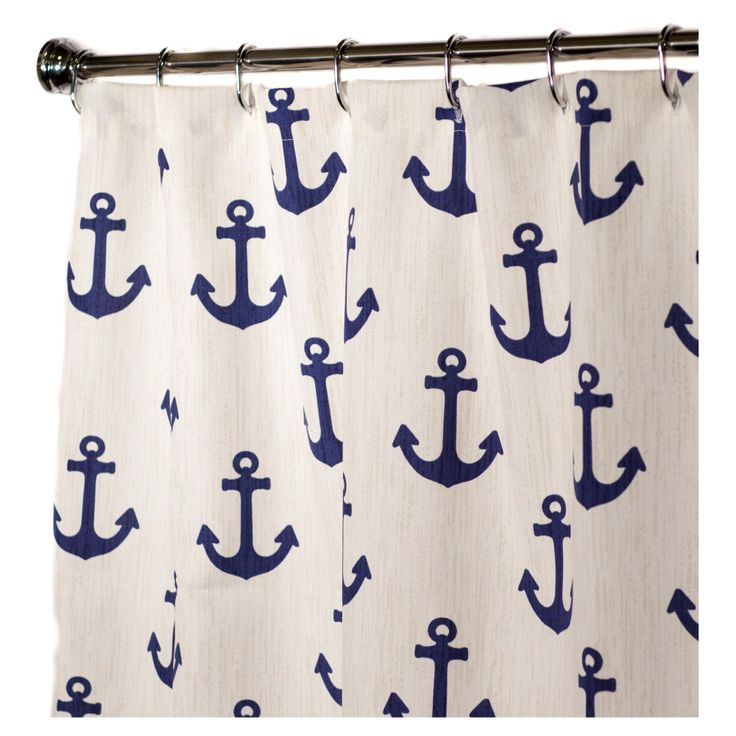 "Nautical Shower Curtains Anchor. comes in sizes 72"", 84"", 96"", Prices from $90.00"