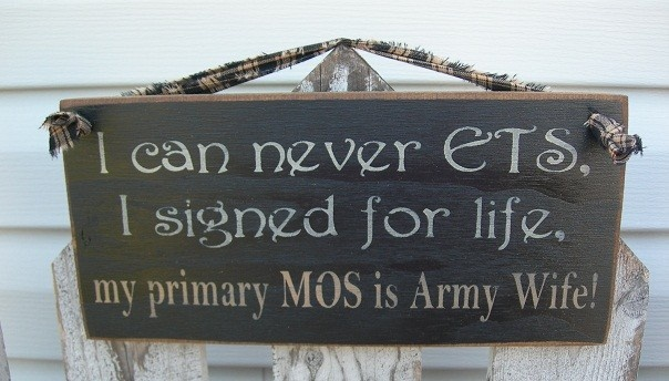 Primary MOS Army Wife - OFG team - HML team - Army Air Force Navy Marines Coast Guard. $10.95, via Etsy.