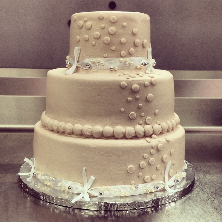 Basic Walmart Wedding Cake Design 3 Tier Champagne Buttercream