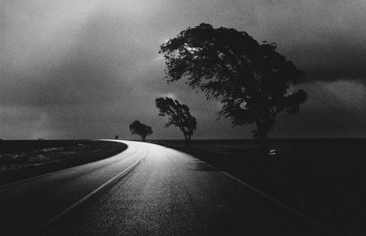 Bernard Plossu/Route, Oklahoma, 1983 ~ everything i love above black and white photography