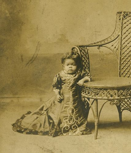 Princess Wee Wee postcard, 5.5 x 3.5 inches, circa 1916 photographer: unknown   Princess Wee Wee, a native of Baltimore whose real name was Harriet Elizabeth Thompson, was a popular attraction at the start of the twentieth century. Among the most famous little people of her day, Wee Wee appeared with various shows including Coney Island's Dreamland. Real Picture postcard c. 1910's